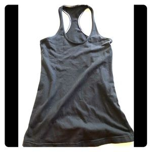Lululemon Black fitted tank, small